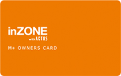 M+ OWNERS CARD